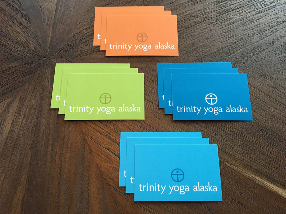 Trinity Yoga Alaska appointment cards